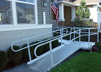 ADA Handicapped Wheelchair Accessible Ramp & Door Installation in Massachusetts.